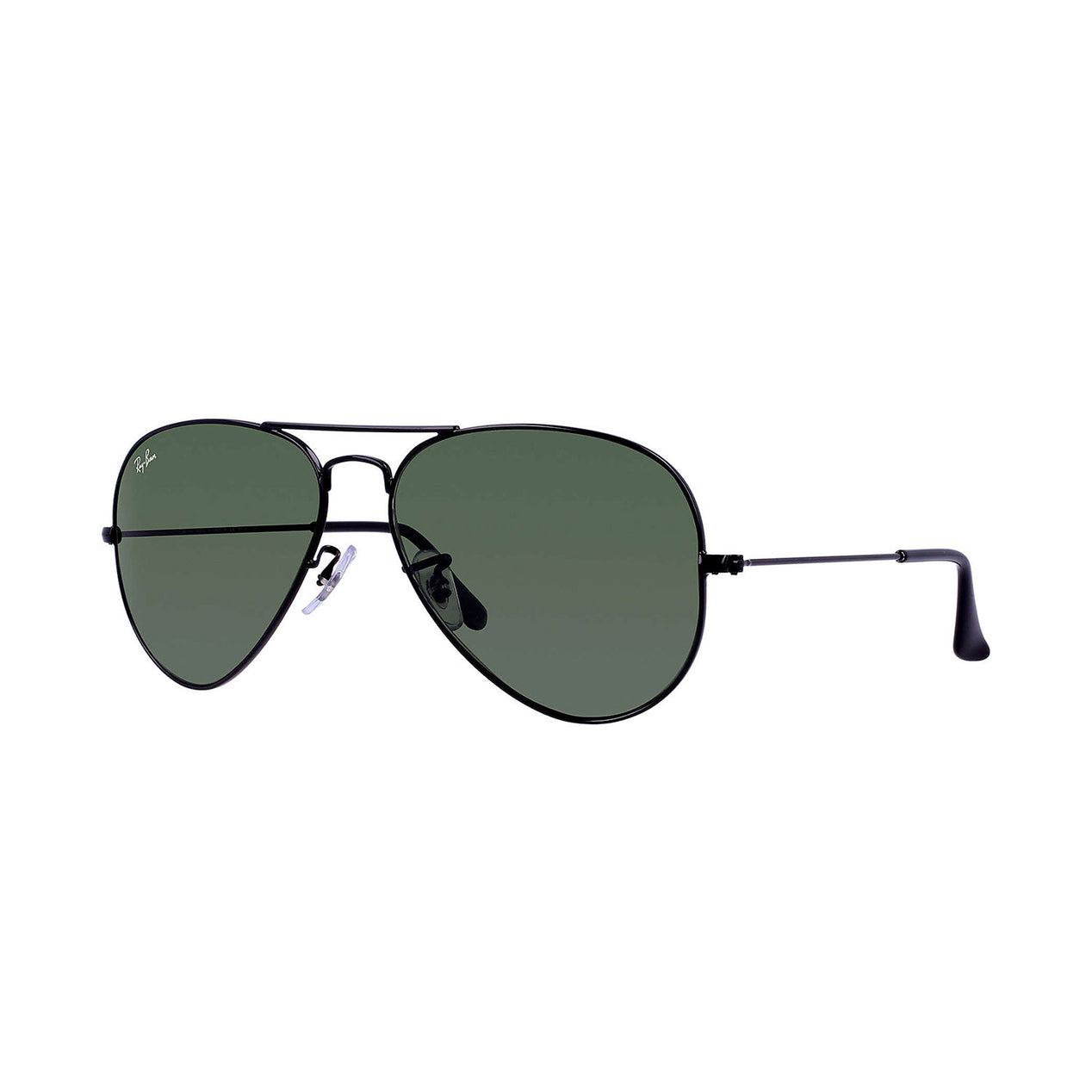353198a3efe Ray Ban Aviator Classic - Black Frame - Green Classic G-15 Lens ...