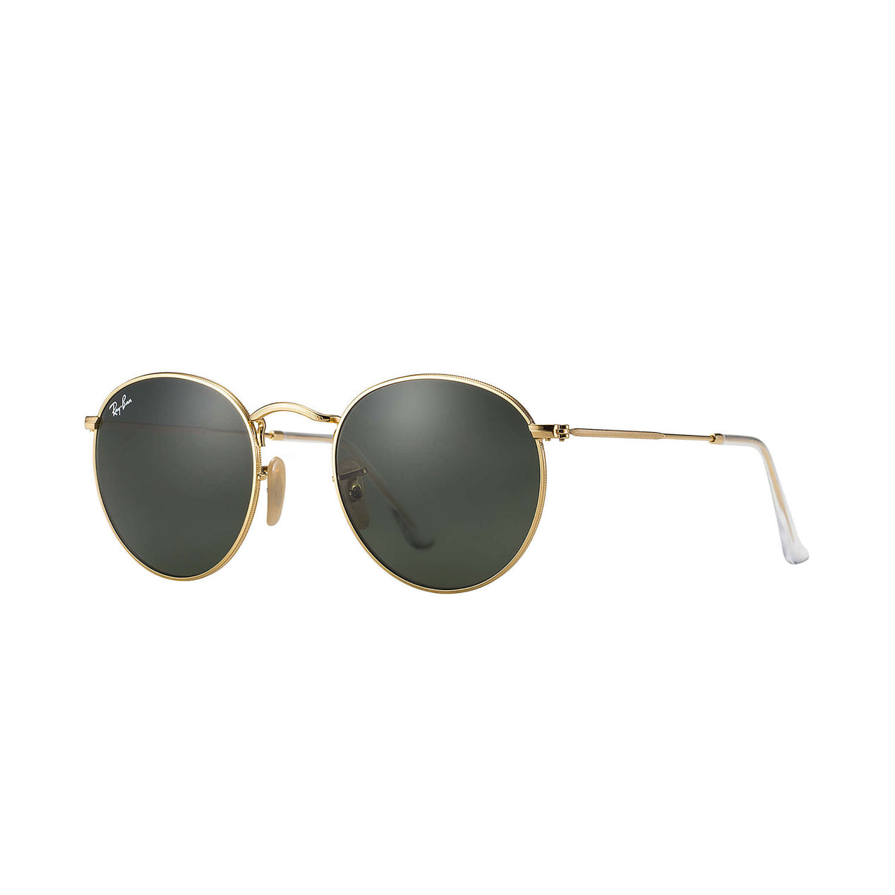 596fe1685d Ray Ban Round Metal - Gold Frame - Green Classic G-15 Lens ...