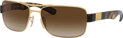 Ray-Ban RB3522 - Gold-Tortoise - Brown Gradient