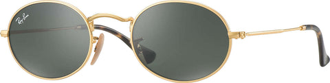 Ray-Ban Oval - Gold - Green Classic G-15 - Large