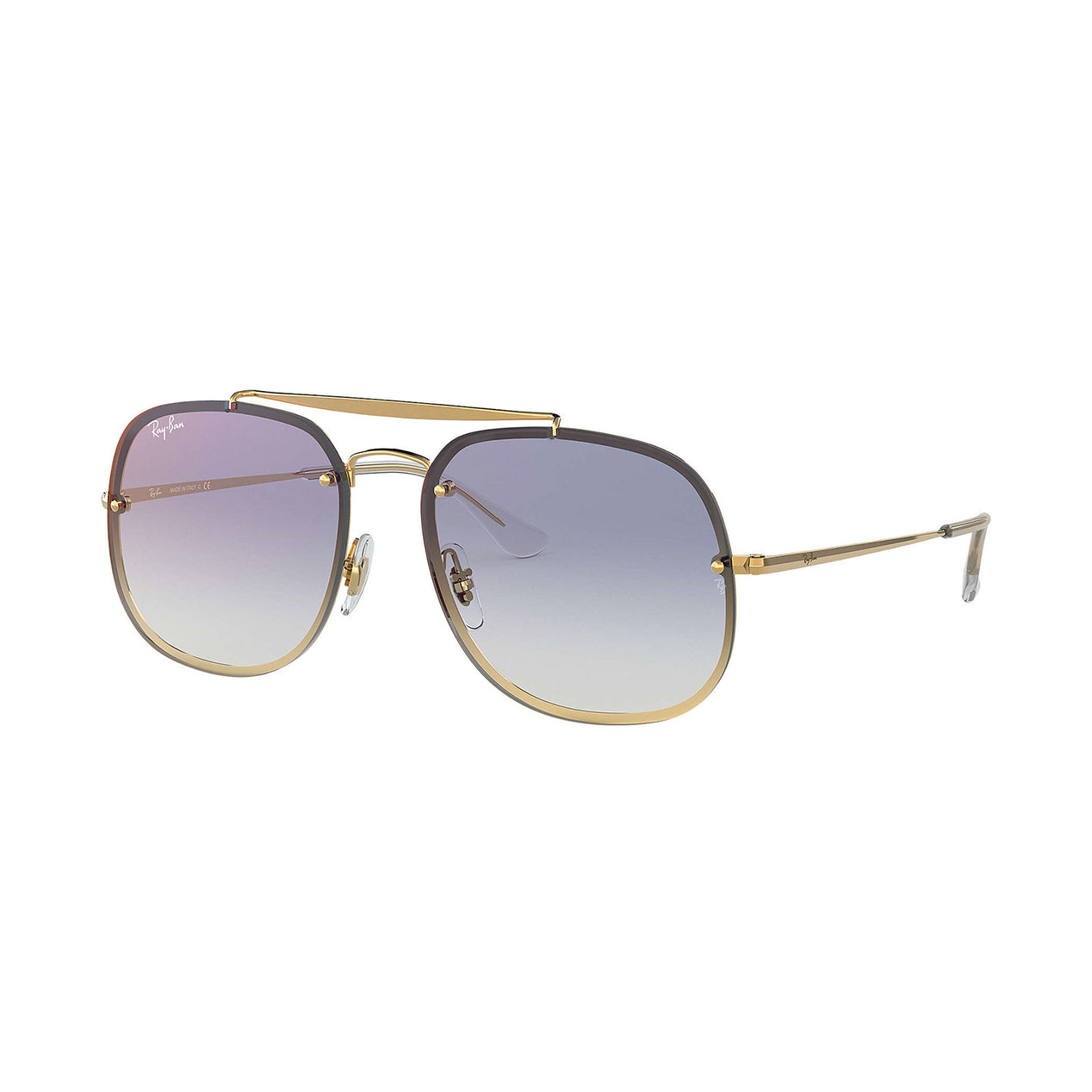 11708ff1aa4 Ray Ban Blaze General - Gold Frame - Blue Gradient Mirror Lens ...