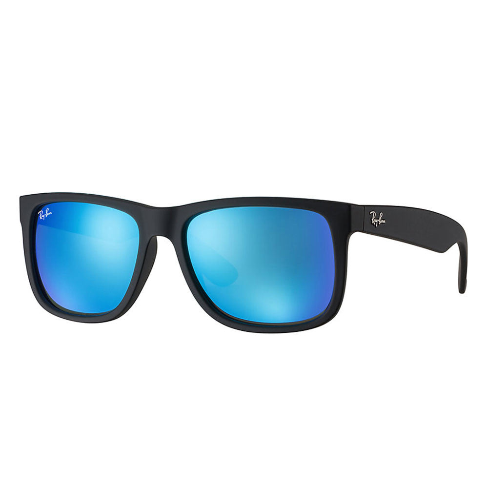 6e68a59591e Ray Ban Justin Color Mix - Black Frame - Blue Mirror Lens