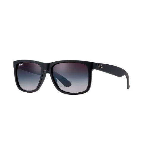 Ray-Ban Justin Classic - Black Frame - Polarized Grey Gradient Lens
