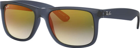 Ray-Ban Justin Flash Gradient Lenses Sunglasses - Trasparent Blue