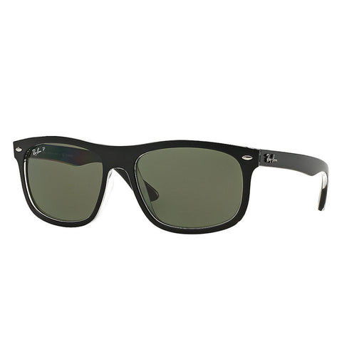 Ray-Ban RB2446 - Black Frame - Polarized Green Classic G-15 Lens