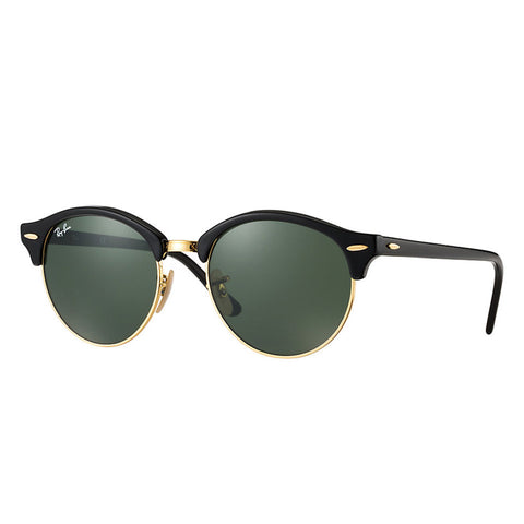 Ray-Ban Clubround - Black Frame - Green Classic G-15 Lens