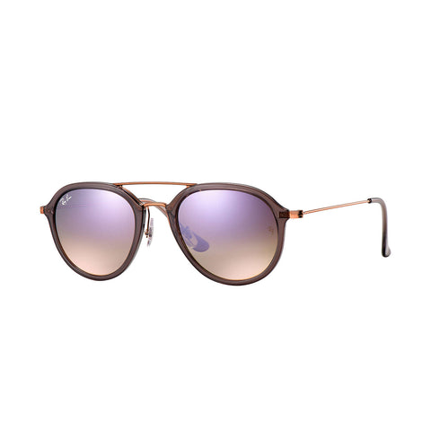 Ray-Ban RB4253 - Grey/ Bronze Copper Frame - Lilac Gradient Flash Lens