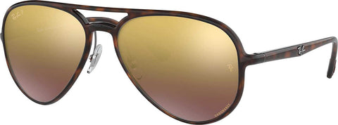 Ray-Ban RB4320CH Chromance - Tortoise - Polarized Purple Mirror Chromance Lens