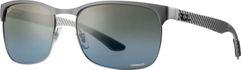 Ray-Ban RB8319CH - Gunmetal - Polarized Blue Gradient Mirror Chromance