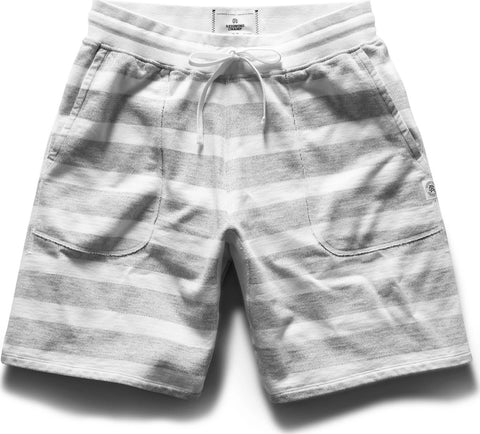 Reigning Champ Sweatshort Striped Terry - Men's
