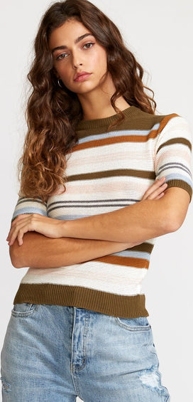 RVCA Nora Striped Knit Sweater - Women's