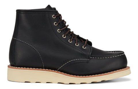 Red Wing Shoes 6-inch Classic Black Bountary Leather Moc - Women's