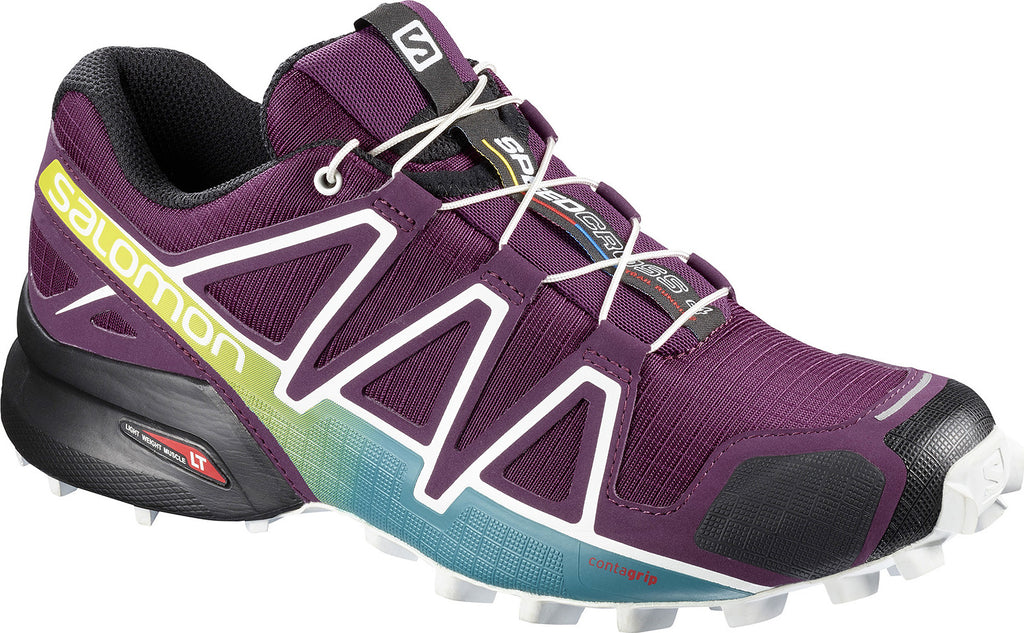 Salomon Women's Speedcross 4 Trail Running Shoes Dark Purple White Deep Lake