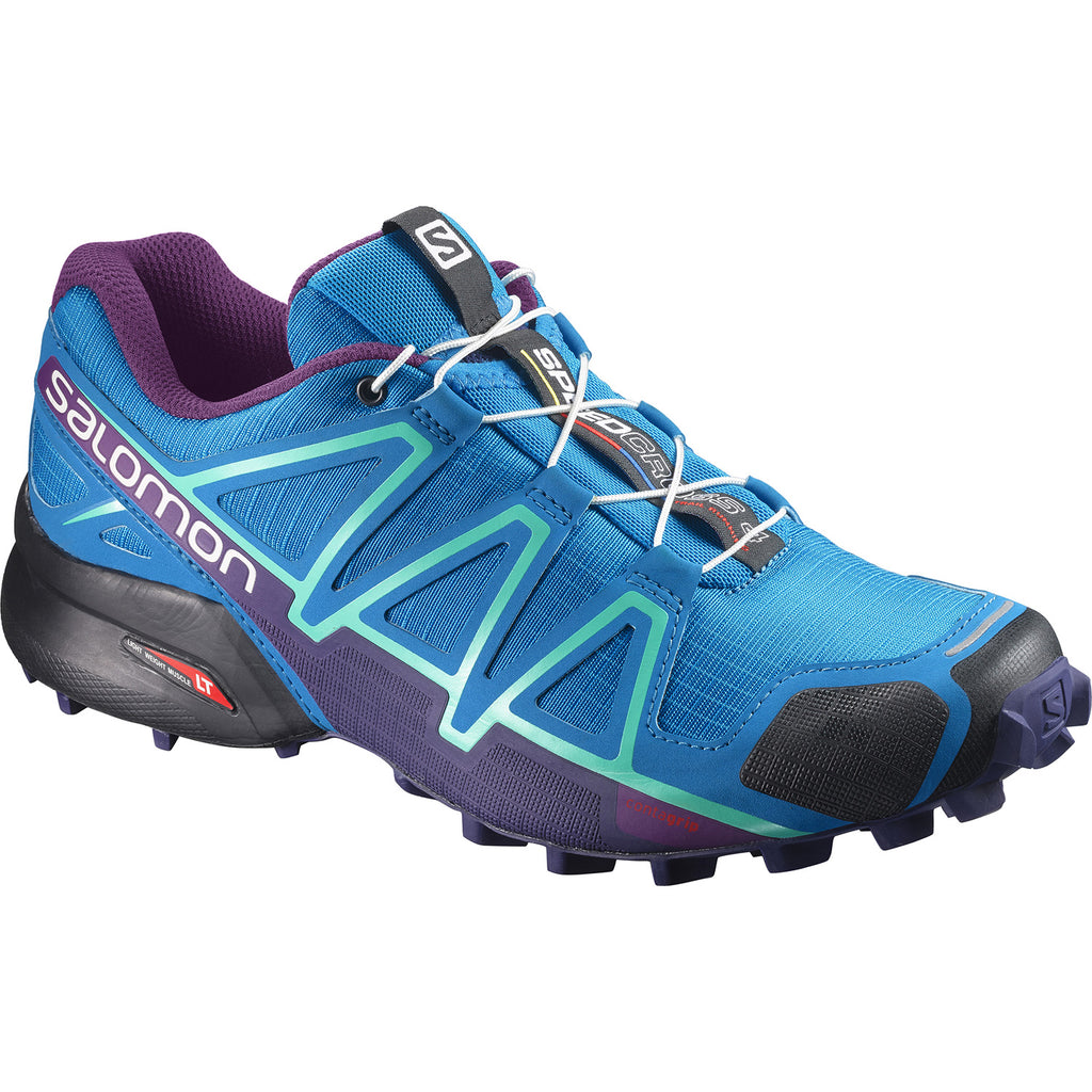Salomon Women's Speedcross 4 Trail Running Shoes Hawaiian Surf Astral Aura Grape Juice