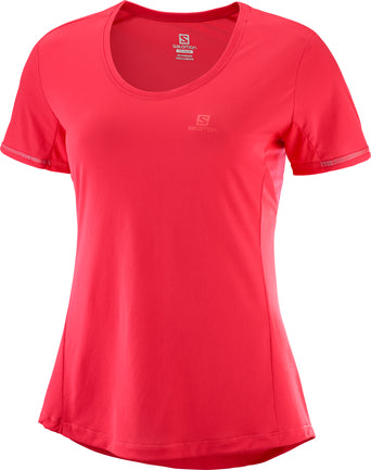 lazy-loading-gif Salomon Agile Short Sleeve Tee - Women s Hibiscus 7c21a29523e