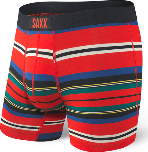 SAXX Underwear Vibe Modern Fit Boxer - Men's Red Tartan Stripe