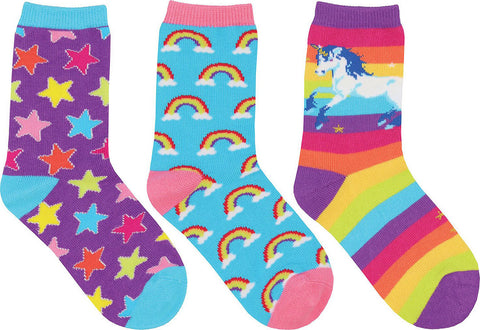 Socksmith 3 Pack  Mini Sparkle Party  Socks - Kids