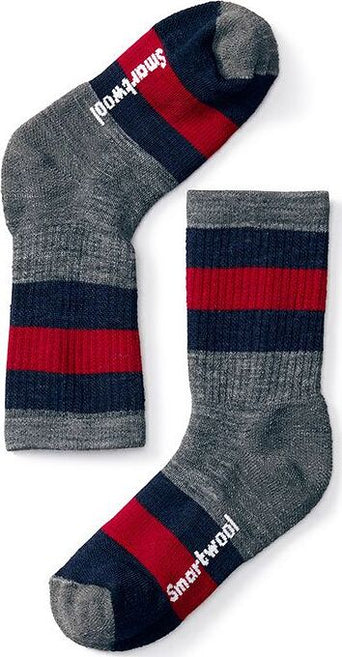 adbfdbd7f5d9a Loading spinner Smartwool Striped Hike Medium Crew Socks - Kids Medium Gray