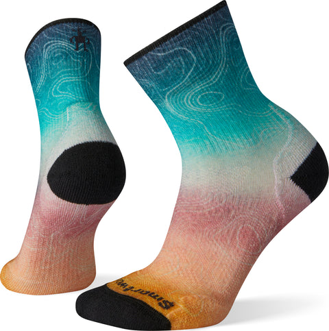 Smartwool PhD Outdoor Light Print Mid Crew Socks - Women's
