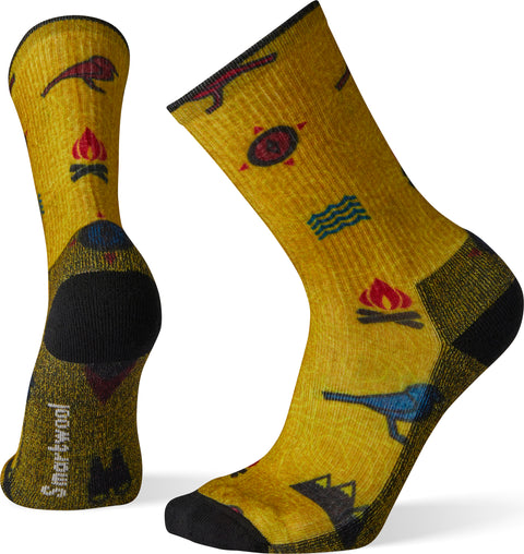 Smartwool Hike Light Bear Camp Print Crew Socks - Men's