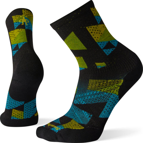 Smartwool PhD Run Light Elite Print Crew Socks - Men's