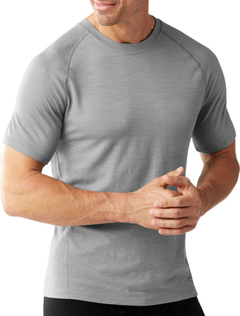 da8664b7a2 Loading spinner Smartwool Merino 150 Baselayer Pattern Short Sleeve - Men's  Light Gray