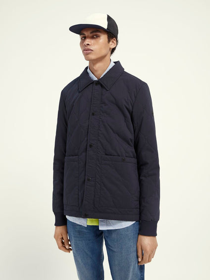 Scotch & Soda Classic Quilted Cotton Jacket - Men's