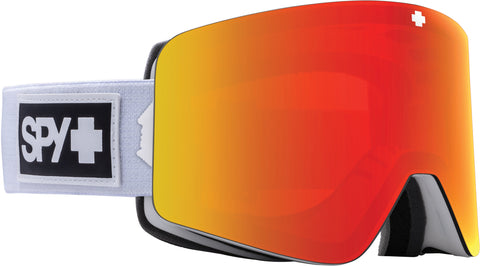 Spy Marauder Goggle - Matte White - HD Plus Bronze with Red Spectra Mirror Lens