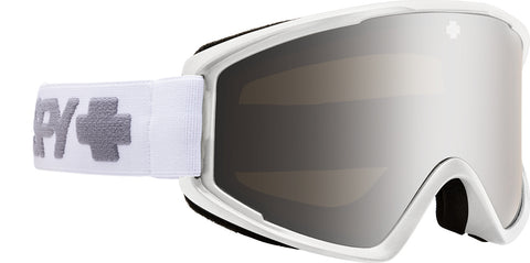 Spy Crusher Elite Goggle - Matte White - Bronze with Silver Spectra Mirror Lens
