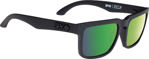 Spy Helm Sunglasses - Matte Black Frame - Happy Bronze Polarised with Green Spectra Lens