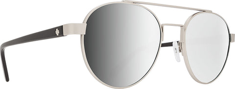Spy Deco Soft Matte Silver - Black - Happy Gray Green with Silver Mirror Lens