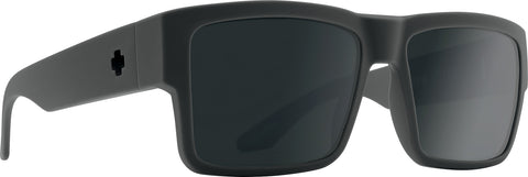 Spy Cyrus Sunglasses - Soft Matte Dark Gray - HD Plus Gray Green Polar with Black Spectra Mirror Lens