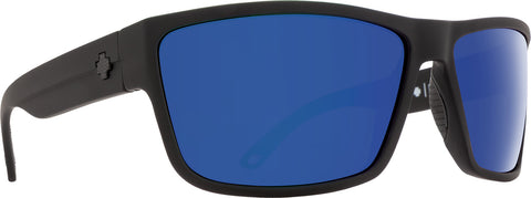 Spy Rocky Sunglasses - Matte Black - HD Plus Dark Gray Green Polar with Dark Blue Spectra Mirror