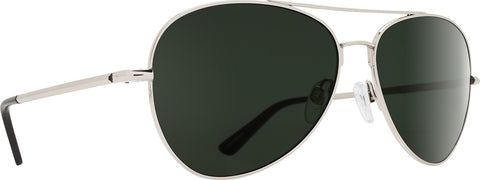 Spy Whistler Sunglasses - Silver Frame - Happy Gray Green Lens - Unisex