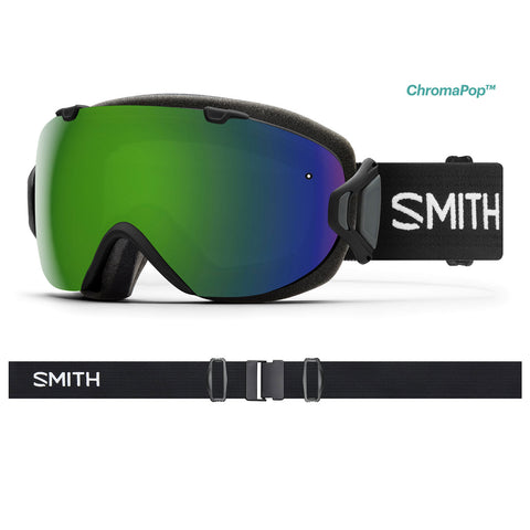 Smith Optics I/OS - Black - Chromapop Sun Green Mirror + Chromapop Storm Rose Flash Lens