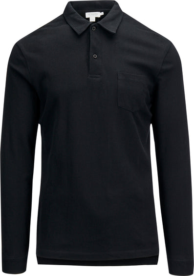 Sunspel Cotton Riviera Long Sleeve Polo Shirt - Men's