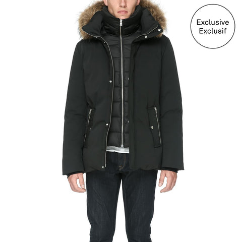 SOIA & KYO Men's Doran Down Coat - Racoon Fur / Exclusive