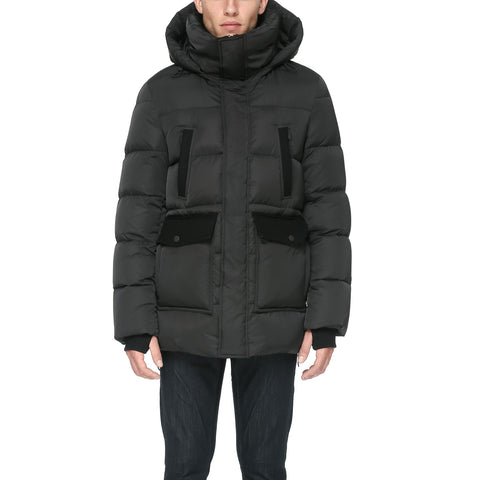 SOIA & KYO Men's Kieran Sporty Down Coat