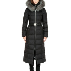 Women's Mariana Down Belted Coat - Fox Fur