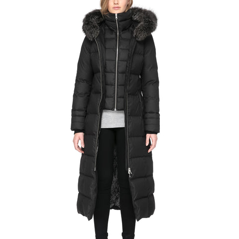 SOIA & KYO Women's Mariana Down Coat - Fox Fur