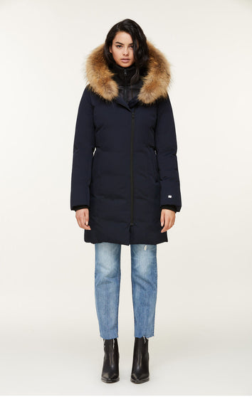 SOIA & KYO Salma Down Coat - Racoon Fur - Women's