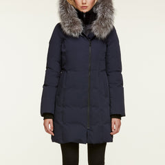 Women's Salma Down Coat - Fox Fur