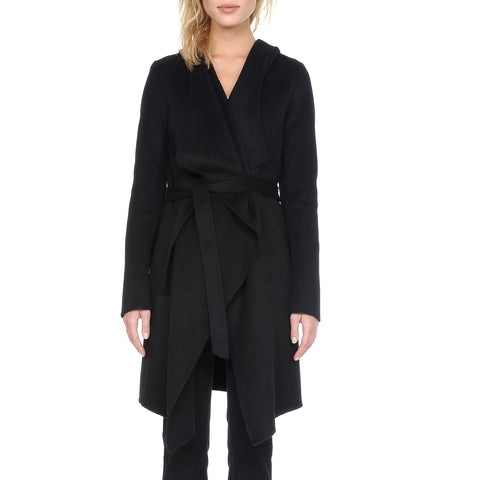 SOIA & KYO Women's Samia Hooded Wool Coat