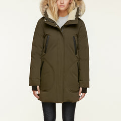 Women's Saundra-C Down Coat - Coyote Fur
