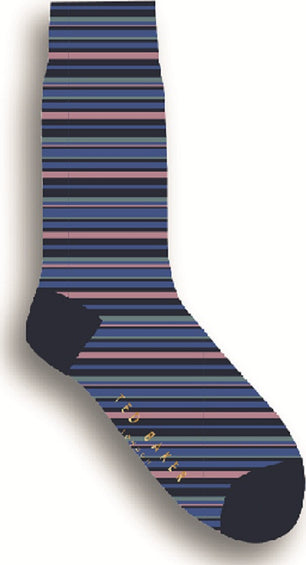 Ted Baker Stubing Stripe Socks - Men's