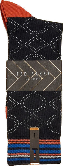 Ted Baker Tune Cotton Geo Socks - Men's