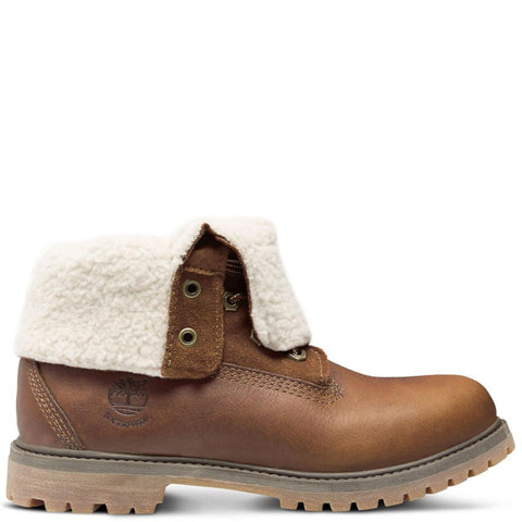 Timberland Women's Authentics Teddy Fleece Waterproof Fold-Down Boots