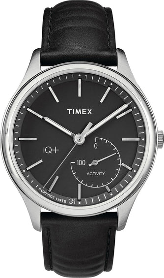 Timex IQ+ Move Watch - Black/Silver