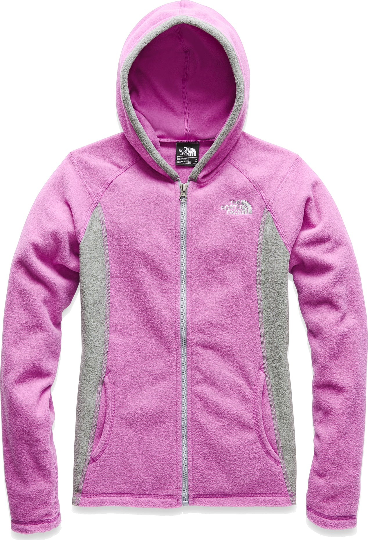 be496f0e6cd0f The North Face Glacier Full Zip Hoodie - Girls | Altitude Sports