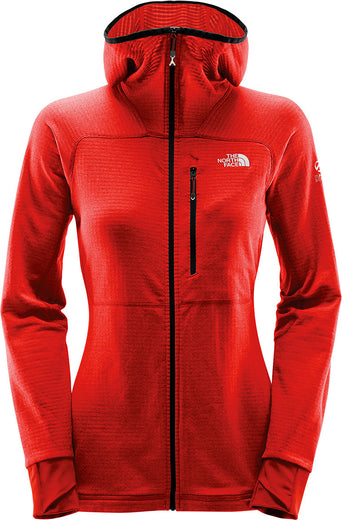 lazy-loading-gif The North Face Manteau à capuchon Summit L2 Proprius Grid  Fleece Femme Fiery Red 2787b403a8ef